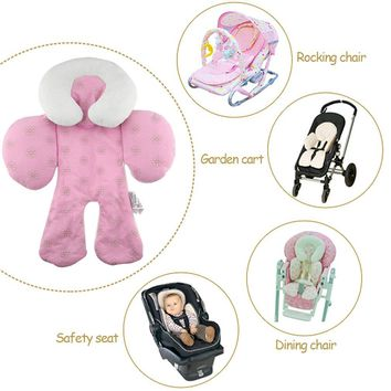 Baby Stroller Cushion car seat accessories Head Body Support Carriage thermal Pad Mat Dual Sided Use Safety Rattle Baby Safety