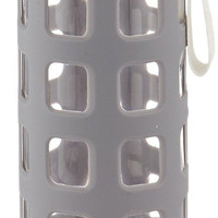 Ello Syndicate BPA-Free Glass Water Bottle with Flip Lid 20-Ounce Grey Ello