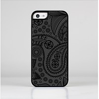 The Dark Gray & Black Paisley Skin-Sert Case for the Apple iPhone 5c