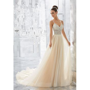 Blu by Morilee 5565 Misty Soft Net Ball Gown Wedding Dress