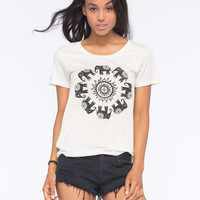 Element Elephant Circle Womens Tee Cream  In Sizes