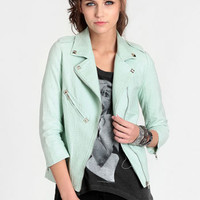 Good Omen Moto Jacket By Line & Dot - $118.00 : ThreadSence, Women's Indie & Bohemian Clothing, Dresses, & Accessories