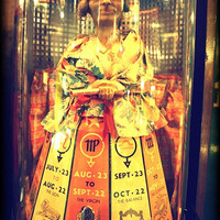 The fortune teller. Matted photograph