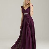 Allure Bridesmaids Dress 1334 Long Chiffon