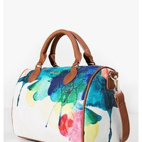 Bowling-style bag with a print - Aquarelle | Desigual.com