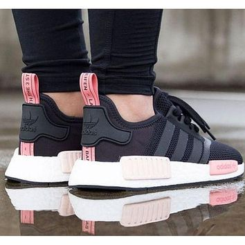"""Adidas"" NMD Trending Fashion Casual Sports Shoes Pink soles F"