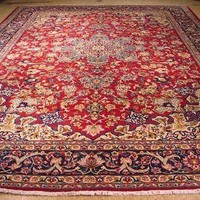 Wool Soft Durable Affordable Rugs Handmade Rug 11x15 Red Rug