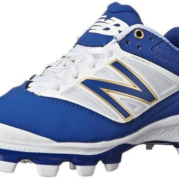 DCCK1IN new balance pl4040v3 tpu molded cleats low cut blue white