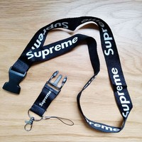 ca kuyou Supreme documents LANYARD KEYCHAIN black