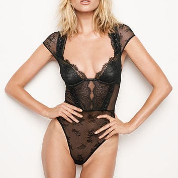 Chantilly Lace Cap-sleeve Bodysuit - Very Sexy - Victoria's Secret