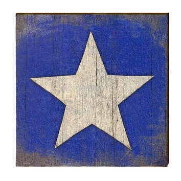 Star on Blue Primitive