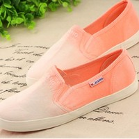 Fanewant — GRADIENT CUTE COLORFUL CANVAS SHOES