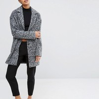 ASOS Coat in Cocoon fit and Textured Fabric at asos.com