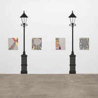 TWO Vintage Lifesize  Street Lamps vinyl wall decal / sticker / removeble wall mural removable wall decor