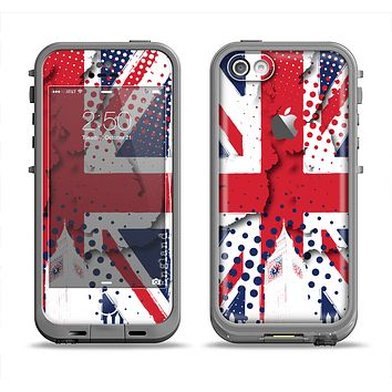 The Grunge Vector London England Flag Apple iPhone 5c LifeProof Fre Case Skin Set