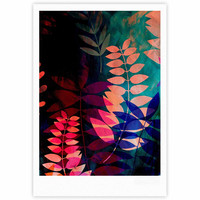 "Jessica Wilde ""Dark Jungle"" Multicolor Nature Fine Art Gallery Print"