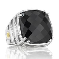 Tacori 18K925 Classic Rock Sterling Silver Black Onyx Cocktail Ring