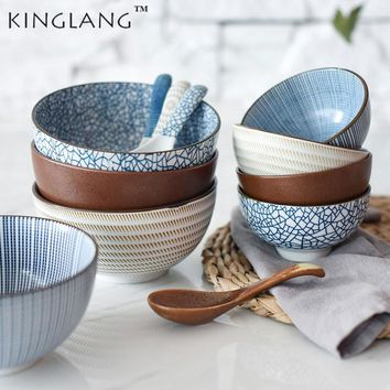 Ceramic Blue And White Kitchen Bowls and Spoons