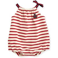 Gucci Sleeveless Striped Jersey Playsuit, Multicolor, Size 3-18 Months