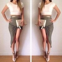 DCKKID4 CUTE HOT TWO PIECE DRESS