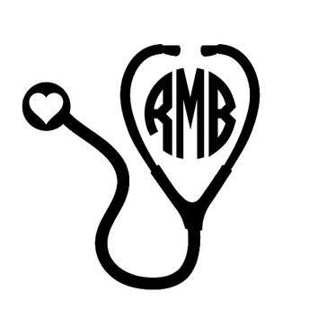 Customized Medical Laptop, iPad, Car Vinyl Decal PERSONALIZED