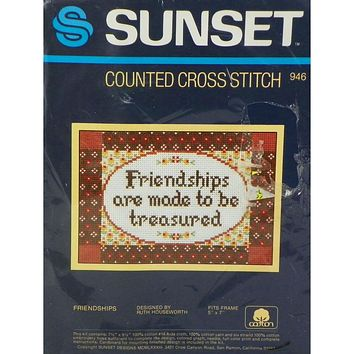 Friendships - Counted Cross Stitch Kit - Sunset