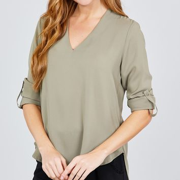 Business Babe Top - Olive