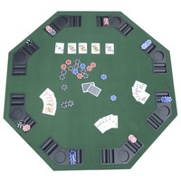 Octagon Poker Table Top - 8 Players | HomeSuperstore