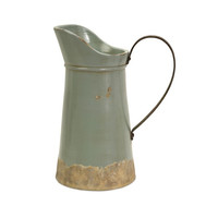 Calista Tall Pitcher with Metal Handle
