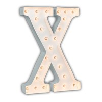 "24"" Letter X Lighted Marquee Letters (White Gloss)"