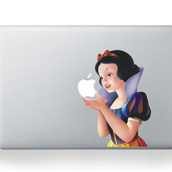 Snow White Vinyl Personality Decal Sticker for MacBook Air Pro 13 11 15 inch Protective Skin Shell for Apple Laptop Stickers