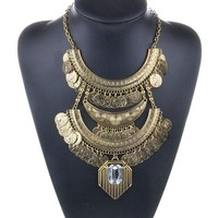Antique Coin Necklace for Women