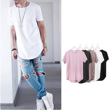 Men Fashion Summer Style T shirt Kanye West T-shirts Fear of god T-shirt Yeezy season 3 Justin Bieber Crop Top Hip Hop Swag Tees