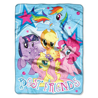 My Little Pony Best Friends  Micro Raschel Blanket (46in x 60in)