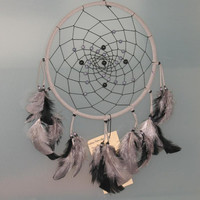 "9"" Gray and Black Dreamcatcher by CatchMyDreams on Etsy"