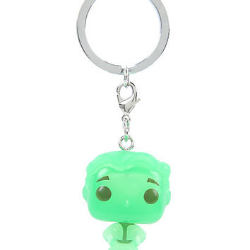 Funko Fallout Pocket Pop! Vault Boy Green Glow-In-The-Dark Key Chain Hot Topic Exclusive
