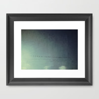 settle your wings Framed Art Print by RichCaspian