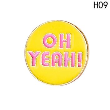 Original Enamel Brooches Jewelry WORK FUN THINK IT GRADUATE CLASS OF 2018 PARTY TIME 12 Style English Letters Brooch pins