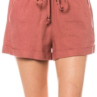 Linen Shorts with Drawstring Waist (8 colors)