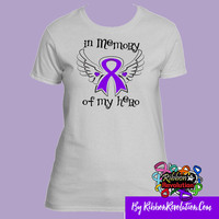 In Memory of My Hero Shirts For Alzheimers Disease, Epilepsy, Crohn's Disease, Cystic Fibrosis ,Lupus, Pancreatic Cancer and More