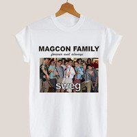 American apparel shirt forever and always,magcon boys family, magcon boys t shirt mens and woman by KerisPutih Available Size : S,M,L,XL,XXL
