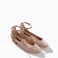 BALLERINA WITH SHINY ANKLE STRAP