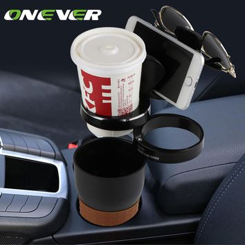 Onever Multi-functional Car Auto Cup Phone Sunglasses Holder Drink Coffee Cup Storage Box Organizer For Coins Keys Phone Holder