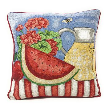 Tache Fruity Drinks Watermelon Lemonade Woven Tapestry Cushion Cover (13082CC)