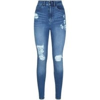 Waven High Rise Ripped Skinny Jeans