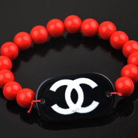 Red Bead Bracelet  Chanel one size by Tiffany Ross