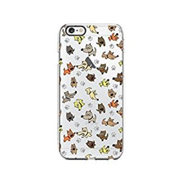 Cute Dog Pattern Transparent Silicone Plastic Phone Case for iphone 6PLUS _ LOKIshop (iphone 6 plus)
