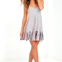 Magic in the Making White Print Swing Dress