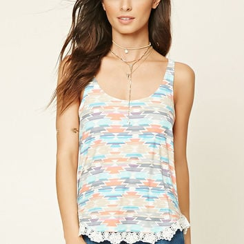 Strappy Tribal Print Top