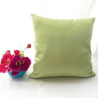Stiff Olive Gray Faux Dupioni Silk Taffeta Cushion Cover Case Tailor #stfcc-6